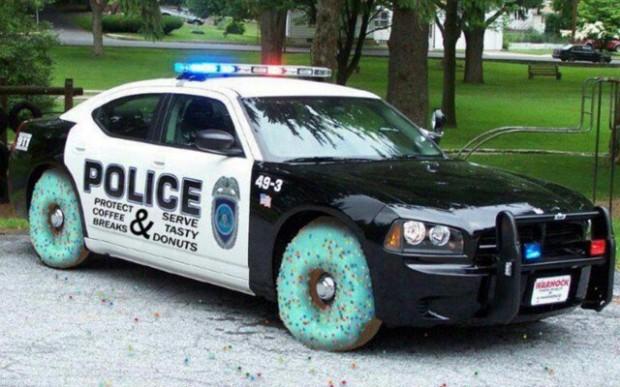 police donut car