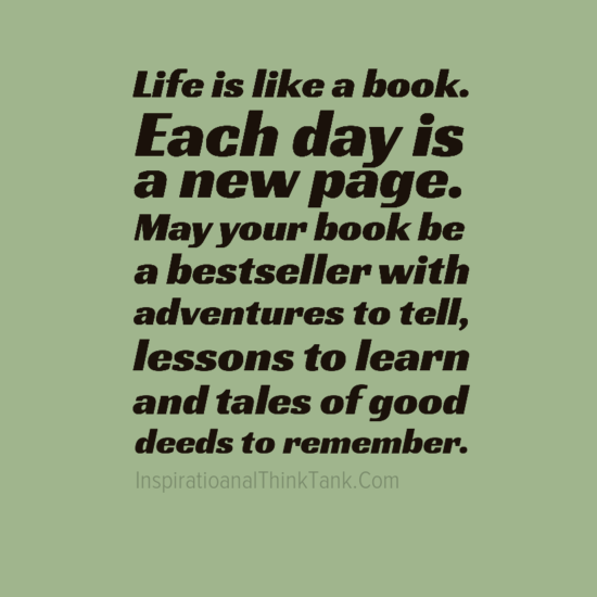 Life is like a book - Life Quotes - Inspirational Quotes