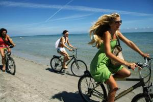 biking beach photo